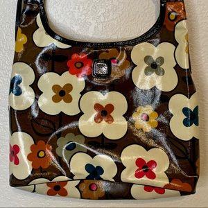 Brighton Vinyl Floral Purse Brown